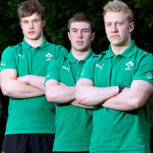 Josh van der Flier, Luke McGrath and Stuart Olding