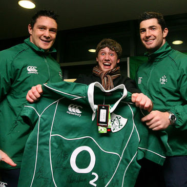 David Wallace and Rob Kearney with Russ