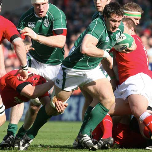 Ireland's David Wallace on the attack against Wales last Saturday