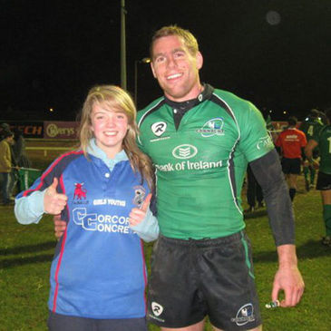 The Westport RFC girls took part in a half-time exhibition at a recent Connacht game