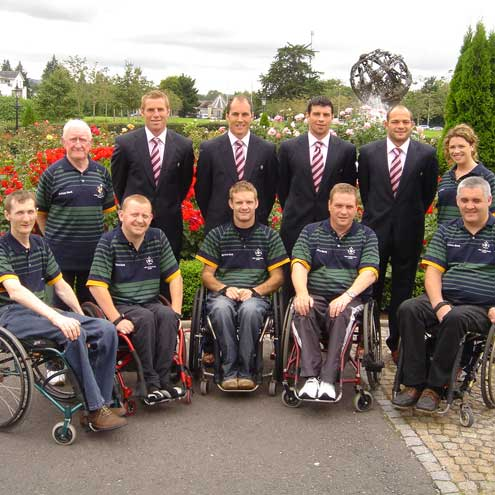 Irish Wheelchair Rugby Team In Paris, September, 2007