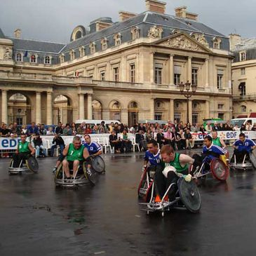 The Wheelchair Rugby team in action in Paris