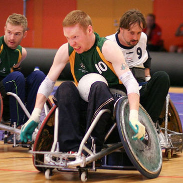 There is a thriving Wheelchair rugby scene in Ireland