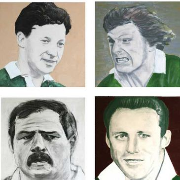 Declan Goulding has painted some Irish rugby legends