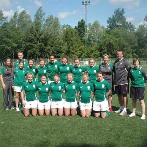 The Ireland Women's Sevens players and coaches