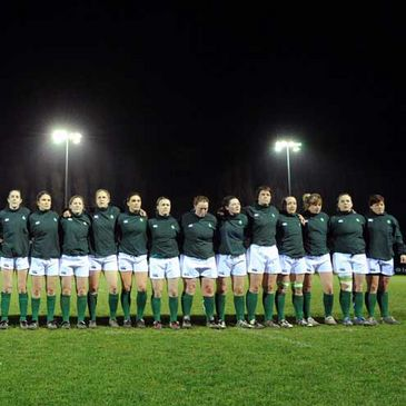 The Ireland Women's squad at Templeville Road