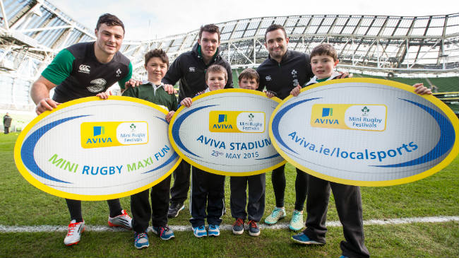 Robbie Henshaw, Peter O' Mahony and Dave Kearney