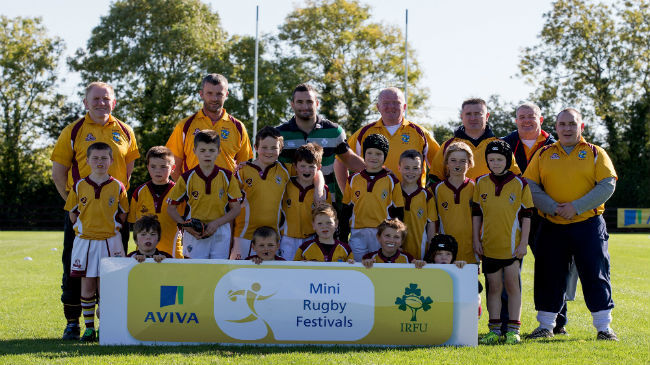 David Kearney with the minis from Bruff